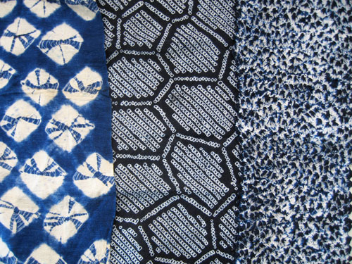Three Examples Of Indigo Shibori The Ardent Thread