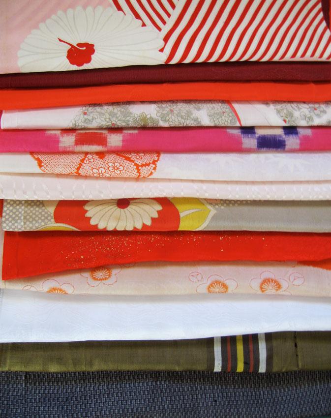 kimono silk fabric bundle