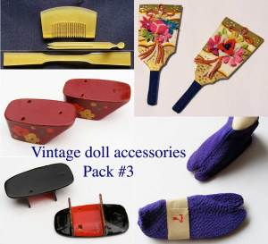 vintage doll accessories pack #3