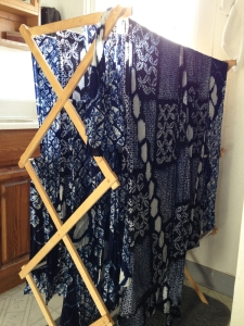 shibori_drying