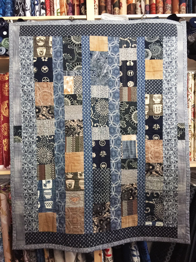 Aizome Amp Kakishibu Boro Quilt Pattern The Ardent Thread